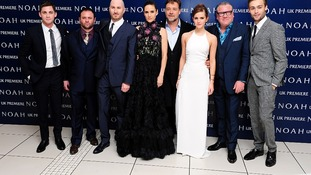 Logan Lerman, Scott Franklin, Darren Aronofsky, Jennifer Connelly, Russell Crowe, Emma Watson, Ray Winstone and Douglas Booth
