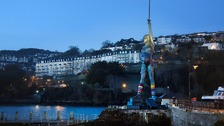 The statue looks out to sea from the harbour at Ilfracombe in North Devon.