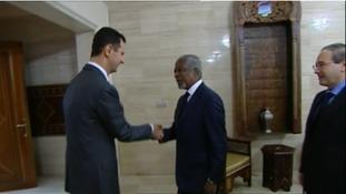 Kofi Anna meets President Assad