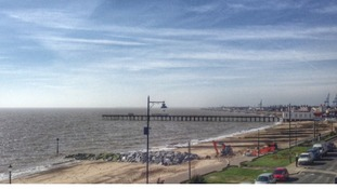 Felixstowe seafront in the March sunshine