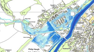 Flood risk map showing areas prone to flooding in Selkirk