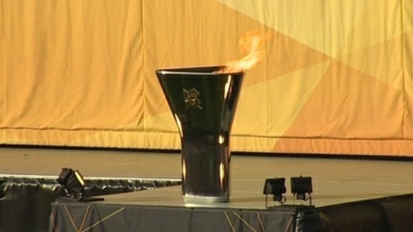 Olympic cauldron in Taunton