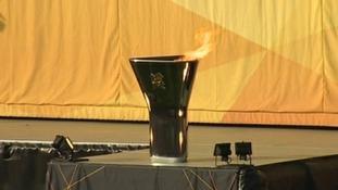 Olympic cauldron in Taunton