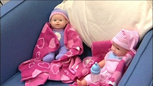 dolls in child protection centre