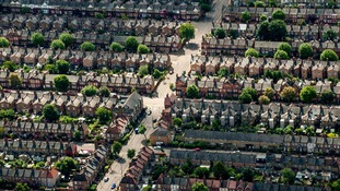 File photo of aerial view of houses.