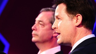 Ukip leader Nigel Farage and Lib Dem leader Nick Clegg faced off in the first debate last week.