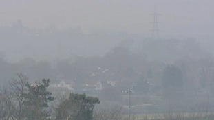 The village of Alconbury was barely visible from the hills this morning.