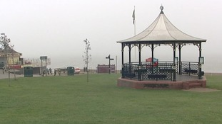 The seafront at Hunstanton in Norfolk is normally visible from here, but that wasn't the case today.