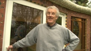 John Hardisty shows ITV Tyne Tees around his elaborate shed.