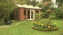 John Hardisty's 'Russian Summerhouse' in his garden in Benton.