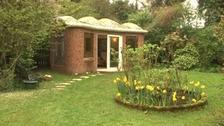 John Hardisty's 'Russian Summerhouse' in his garden in Benton.