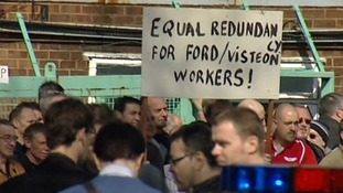 The Visteon factory at Basildon has been the scene of several protests since it closed.