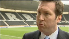 Tom Glick has resigned from his position at Derby County.