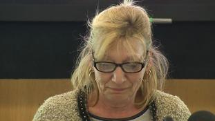 Julie Finch breaks down in tears today.