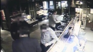 CCTV pictures released of James drinking in the River Lodge pub just before his death.