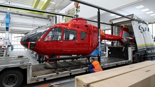 The new Air Ambulance being delivered