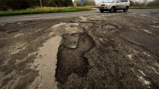 Potholes will cost £12 billion to fill, according to report