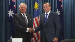 Malaysian Prime Minister Najib Razak and his Australian counterpart Tony Abbott.