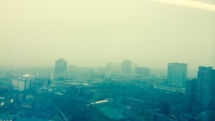 View from the top of The Cube building in Birmingham