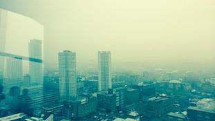 The polluted Birmingham skyline