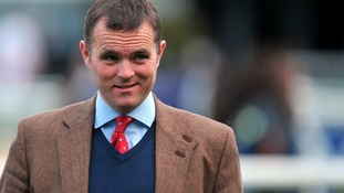 Trainer Evan Williams described One in a Milan as 'the biggest, laziest horse you've ever seen'