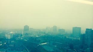 Smog covers Birmingham.