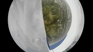 Ocean of water found under the surface of Saturn's moon.