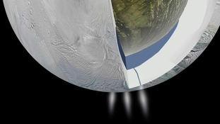Jets of water hinted at the hidden ocean in 2005.