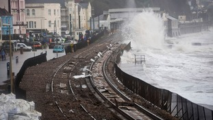Then: the Dawlish line on 5th February this year.