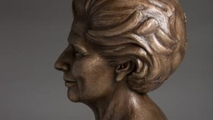 Margaret Thatcher sculpture goes on display at Grantham Museum today.