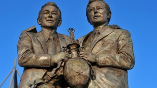 Brian Clough and Peter Taylor statue outside Pride Park.