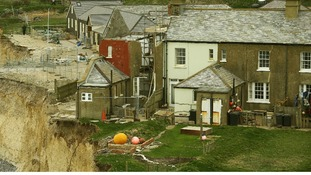hee cottage at Birling Gap near Eastbourne, East Sussex, as work continues to demolish the property.