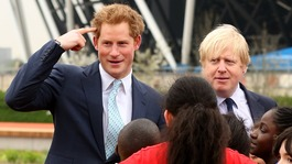 Prince Harry and Boris Johnson visit Olympic Park
