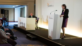 Kirsty Williams speaking at conference 2013