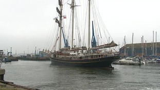 An easterly wind brought the Tall Ships to the region.