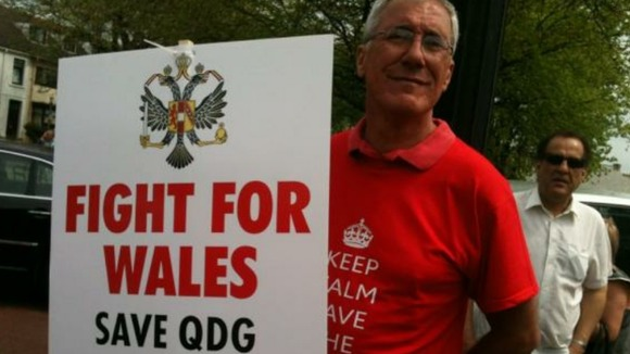 A campaigner in Swansea