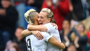 Manchester City striker Toni Duggan scores hat-trick in England 9-0 World Cup qualifier