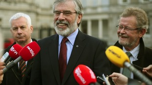 Sinn Fein President Gerry Adams has welcomed improvements in relations with Britain.