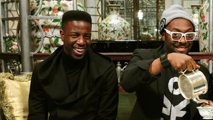 Jermain Jackman, left, with will.i.am.