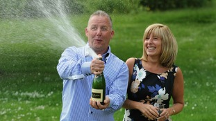 Lottery winners celebrate £1 million raffle win