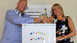 Alan and Kim Elliott are the fourth lottery winners in Nottinghamshire this year