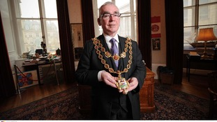 Current Lord mayor Mike Leddy