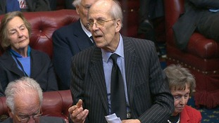 Lord Tebbit speaking in the House of Lords.