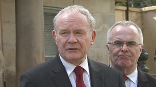 Martin McGuinness, speaking today.