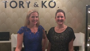 Victoria Taylor and Kristin O'Brien are delighted that Kate chose their store.