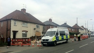 Scene of the house fire in Allenton in Derby earlier this month