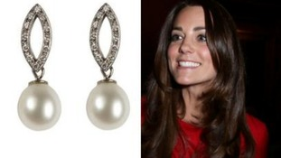 The Duchess of Cambridge ordered this pair of earrings worth £1,500.