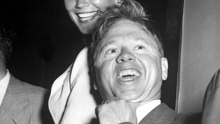 File black and white photo of Mickey Rooney.