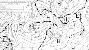 High pressure = dry weather.