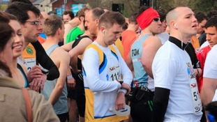 Runners were left confused when the race was delayed, then cancelled